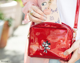 ミニーマウス/スパークリップショルダーバッグ ¥5,390