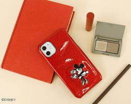ミニーマウス/スパークリップiPhoneケース11/XR対応