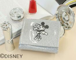 ミニーマウス/スパークリップミニウォレット