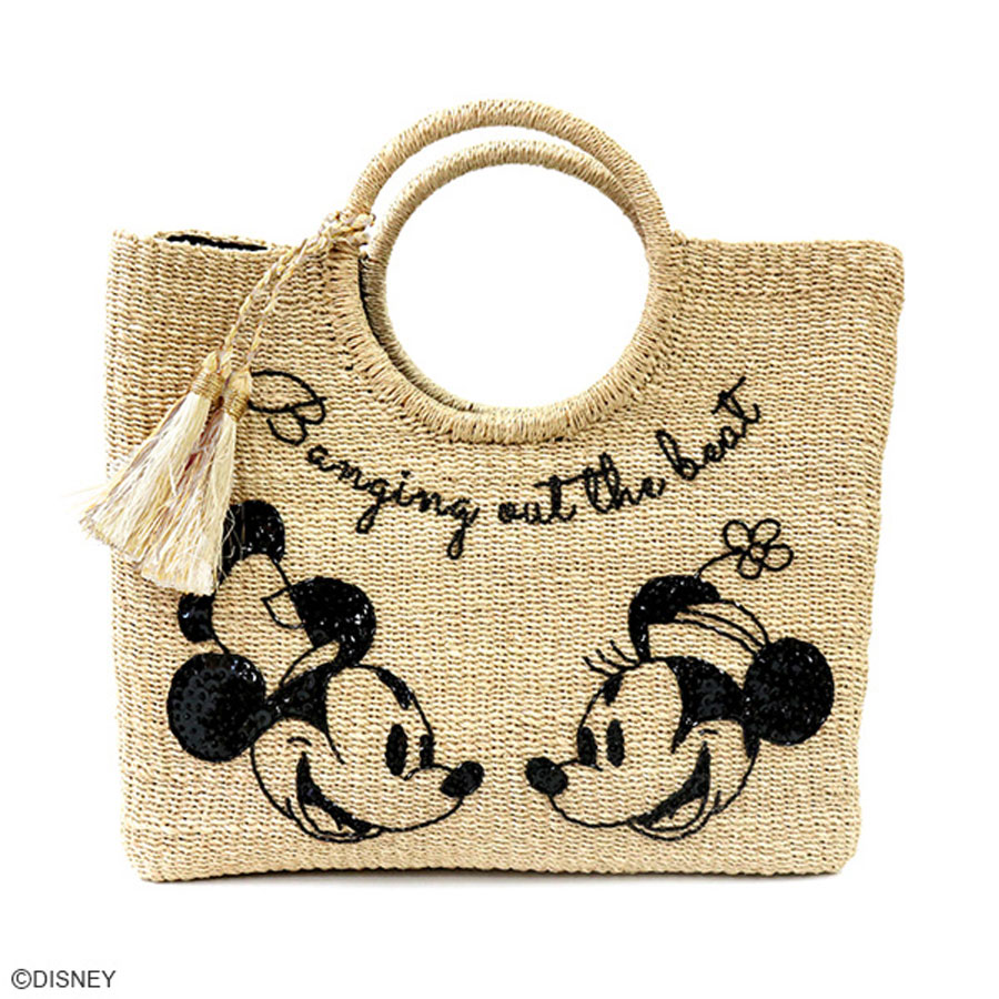 DISNEY COLLECTION<br>ディズニー/ビーズ刺繍カゴバッグ