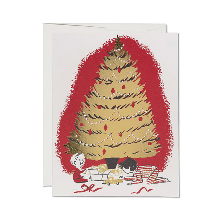 redcapcards<br>GREETING CARDS/箔押しタイプ<Christmas>